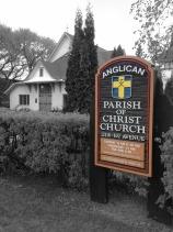 Christ Church sign